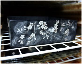桜の絵付け