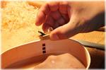 弁当箱 豆鉋で木地調整