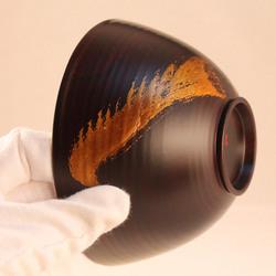 欅 飯椀(銀彩)H6